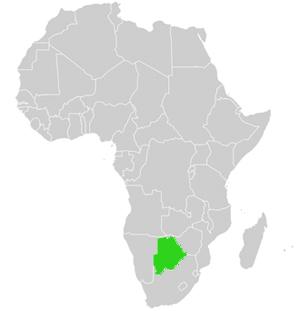 botswana karte Landkarte und ausf hrliche Geographie von Botswana