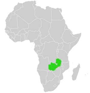 Lage in Afrika Sambia
