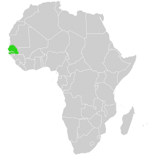 Senegal Lage in afrika
