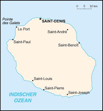 Karte Reunion Afrika