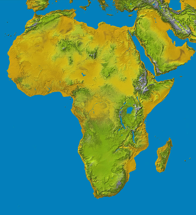 topographie afrika