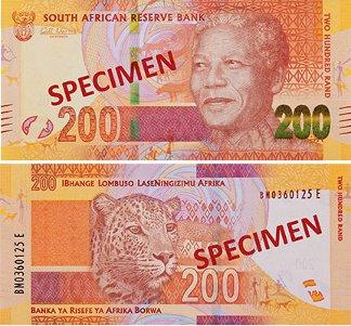 Banknoten Südafrika