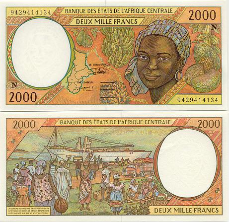 Banknoten Äquatorialguinea