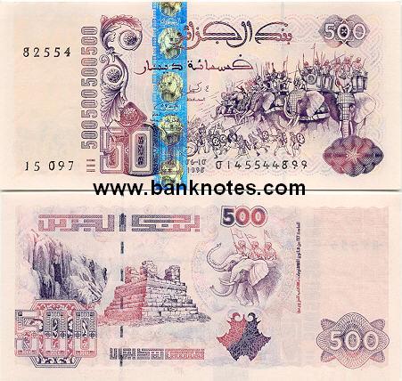 Banknoten Algerien