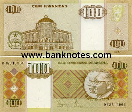 Banknoten Angola