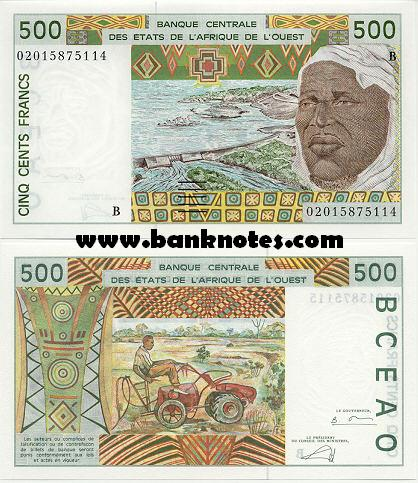 Banknoten Benin