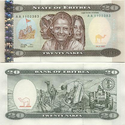 Banknoten Eritrea
