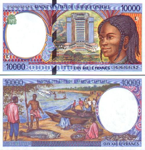 Banknoten Gabun