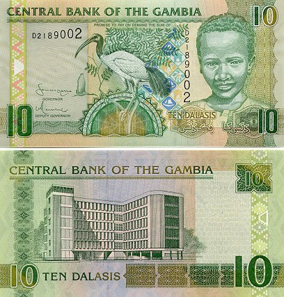 Banknoten Gambia