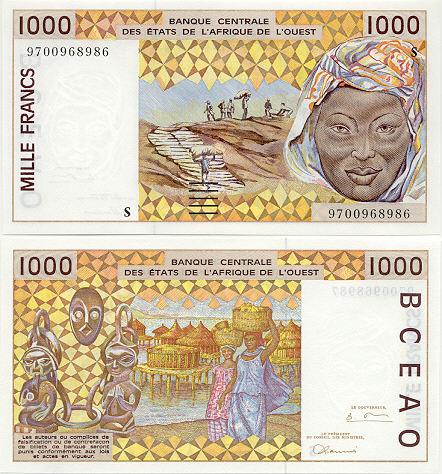Banknoten Guinea Bissau