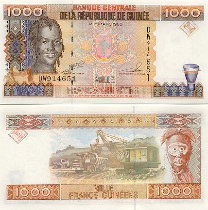 Banknoten Guinea