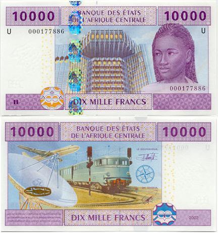 Banknoten Kamerun