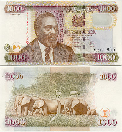 Banknoten Kenia