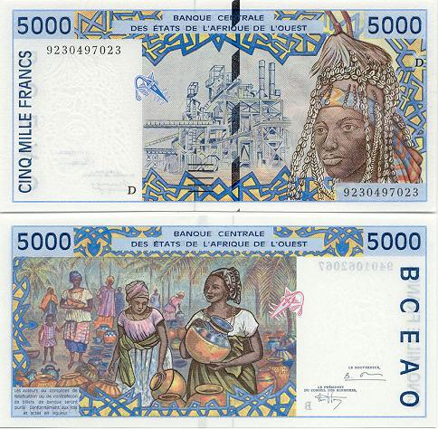 Banknoten Mali