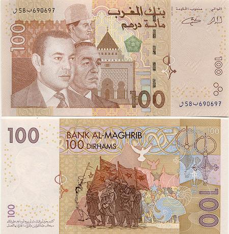 Banknoten Marokko