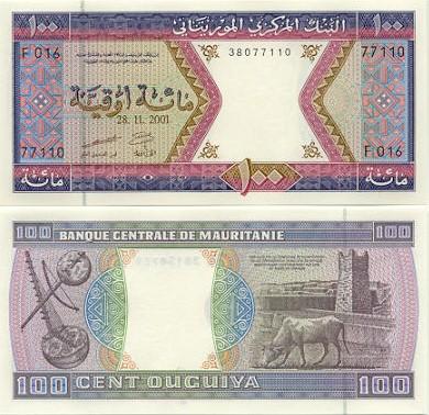 Banknoten Mauretanien