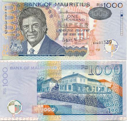 Banknoten Mauritius