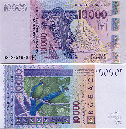 Banknoten Senegal
