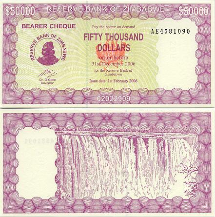 Banknoten Simbabwe
