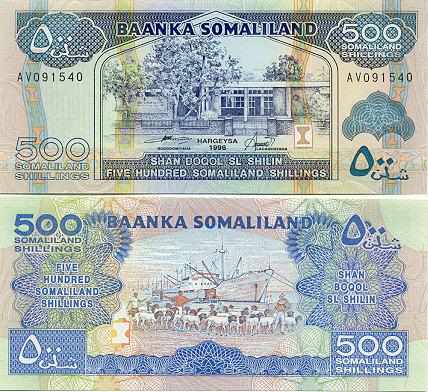Banknoten Somaliland