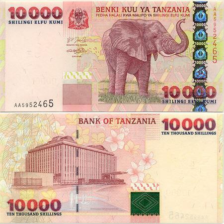Banknoten Tansania