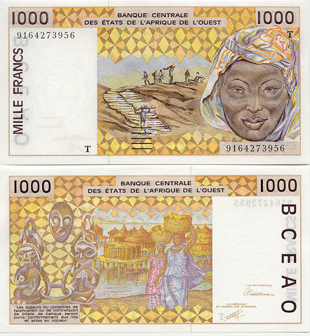Banknoten Togo