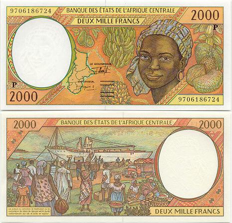 Banknoten Tschad