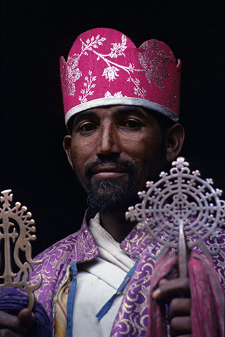 Priester Lalibella Äthiopien Afrika