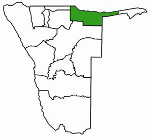 Kavango Karte