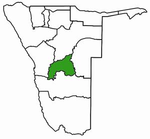Kohmas Namibia Karte