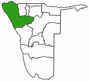Kunene Namibia Karte