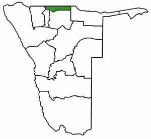 Ohangwena Namibia Karte