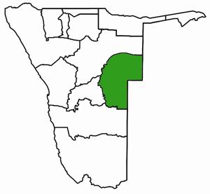 Omaheke Namibia Karte