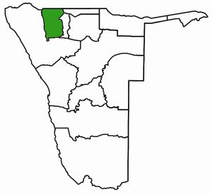 Omusati Namibia Karte