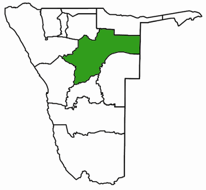 Otjozondjupa Namibia Karte