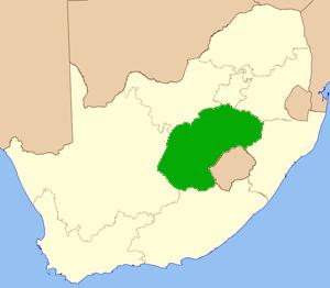 Freistaat Südafrika Karte