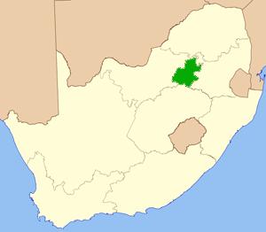 Gauteng Südafrika Karte