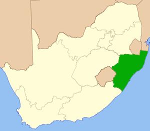KwaZulu-Natal Südafrika Karte