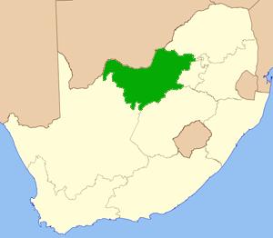 Nordwest Südafrika Karte