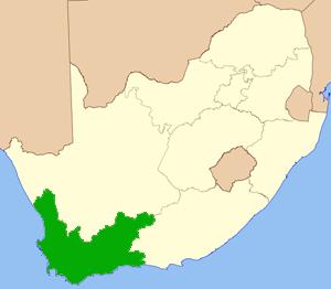 Westkap Südafrika Karte